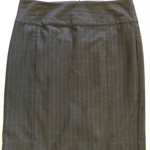 Grey Pinstripe Pencil Skirt